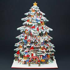 amazon com christmas tree pop up christmas greeting card pop up