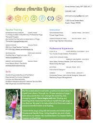 yoga instructor resume resume u2013 artlovemusicyoga