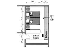 dressing chambre 12m2 plan chambre où mettre le lit dans la chambre côté maison