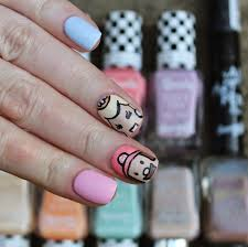 dahlia nails mario and peach nails