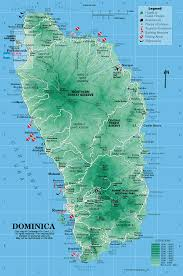 Maps Of The Caribbean by Caribbean On Line Dominica Maps Dominica
