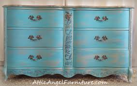 Americana Decor Chalky Finish Paint Lace by Gold U0026 Turquoise Dresser Attic Angel Furniture Company