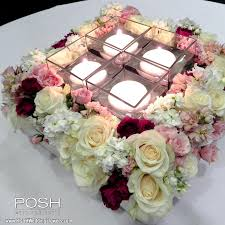 wedding flowers seattle centerpiece large square centerpiece with candles seattle