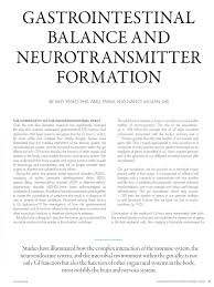 gastrointestinal balance and neurotransmitter formation tyrosine