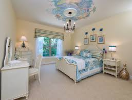 Antique White Makeup Vanity Mermaid Murals For Traditional Teen Bedroom With Antique White