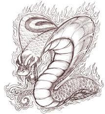 king cobra head drawing