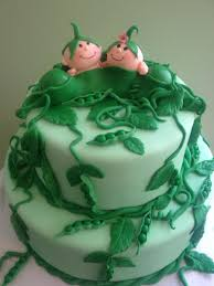 two peas in a pod cake twins u0027 baby shower cakecentral com