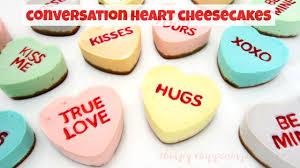 Tyler Florence Cheesecake Conversation Heart Cheesecakes Valentine U0027s Day Recipe