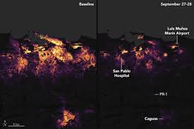 nasa photos of show how wiped out power on the