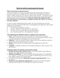 Example Persuasive Essay Outline What To Include In A Persuasive Essay