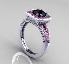 pink and black engagement rings and pink diamond engagement ring