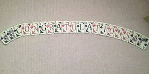 Congratulations Wedding Banner Congratulations Alice In Wonderland Wedding Playing Card Bunting