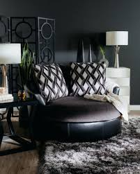 Microfiber Accent Chair Chairs Oversized Swivel Chairs Latitude Run Barrel Chair Black