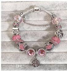 silver pink bracelet images 925 sterling silver pink blue murano glass beads charm family jpg