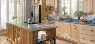 Kitchen Thomasville Natural Maple Kitchen Cabinet With Blue - Natural maple kitchen cabinets
