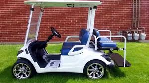 2015 custom yamaha gas golf cart base coat clear coat white