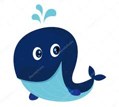 big blue ocean cartoon whale u2014 stock vector beeandglow 3051536