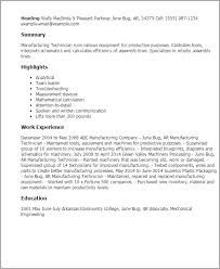 manufacturing resume samples image gallery of shining production