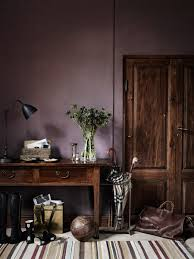 Dark Grey Accent Wall by Dusty Purple Wall Color The New Neutral Interiors Dark