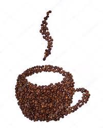 Heart Shaped Mug by Mug Shaped Coffee Beans U2014 Stock Photo Chaosmaker 5039321