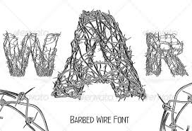 barbed wire font by yarche graphicriver
