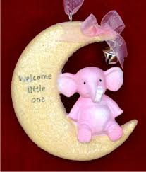 welcome sweet baby personalized ornaments by