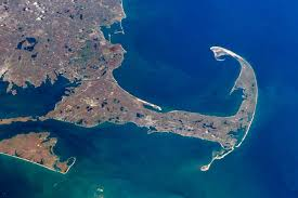 yes astronauts do land on cape cod now and then last spring two