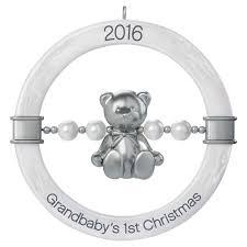 grandbaby u0027s first christmas teddy bear rattle ornament keepsake