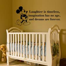 lovely quote wall decals for baby nursery disney large size baby nursery winsome removable black mickey mouse laughter timeless imagination has