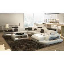 canapé sofa italien canapé d angle en cuir italien 8 places nordik et achat vente