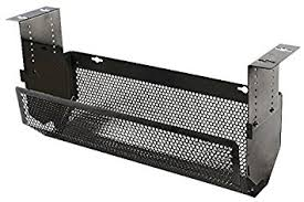 under table cable tray under desk cable tray 500mm black cms 03b by penn amazon co uk