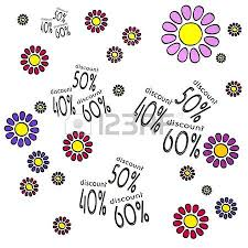 happy spring flower hand drawn sketch of four discount with fresh