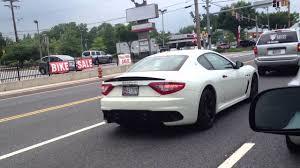 maserati white white maserati granturismo mc stradale spotted on the road