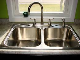 brushed nickel faucet with stainless steel sink satin nickel faucet with stainless steel sink sink ideas