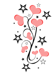 stars and hearts tattoo designs