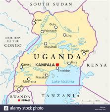Lake Victoria Map Uganda Political Map Stock Photo Royalty Free Image 72544784 Alamy