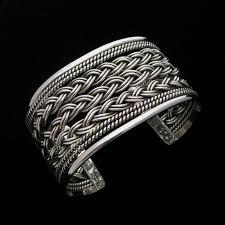 sterling silver cuff bangle bracelet images Taxco sterling silver bracelet cuff with braided work jpg