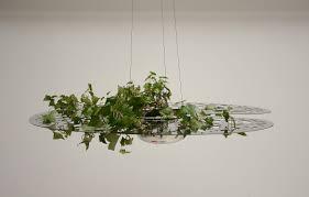 stainless steel garden pot hanging nénuphar by jean françois