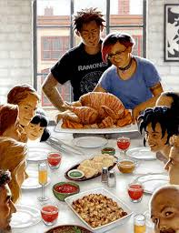norman rockwell painting family dinner defendbigbird
