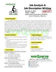 job analysis and job description writing made easy