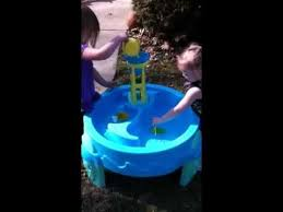 step2 waterwheel play table willow and my niece playing with step2 waterwheel play table youtube