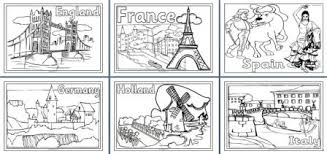 Flags Of Europe Coloring Pages geography resources teaching about europe worksheets colouring