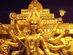 Navratri Decoration At Home Tripura Golden Durga Idol To Enthrall People This Festive Season