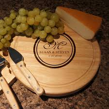 personalized cheese board set personalized cheese board set with four cheese knives including