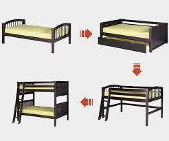 camaflexi full size loft bed in natural finish e611lf camaflexi