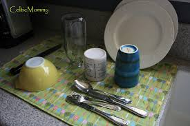 celticmommy tutorial sew your own dish drying mat