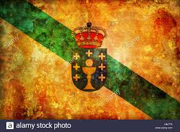 Vintage Flag Art Some Very Old Vintage Flag Of Galicia Stock Photo Royalty Free