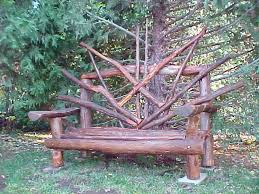 Eucalyptus Bench - images made of branches sunraze bench of eucalyptus and cedar