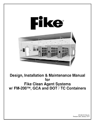 49113426 design installation maintenance manual fm200 fike 2