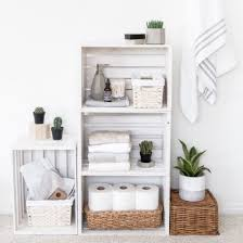 craft ideas for bathroom diy crate shelves bathroom organize craft gawker crate shelves